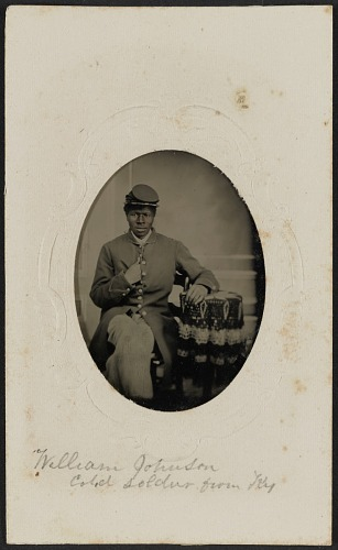 Image for Tintype portrait of USCT soldier William Johnson
