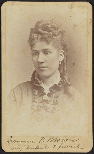 Image for Carte-de-visite portrait of Emma V. Brown