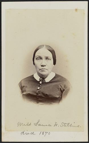 Image for Carte-de-visite portrait of Miss Laura W. Stebbins