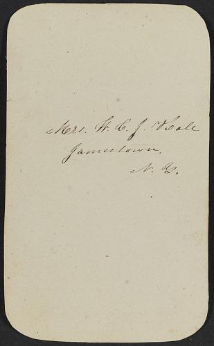 Image for Carte-de-visite portrait of Mrs. Maj. Hall