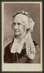 Carte-de-visite portrait of Nancy M. Johnson