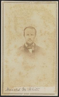 Carte-de-visite portrait of Harold M. White