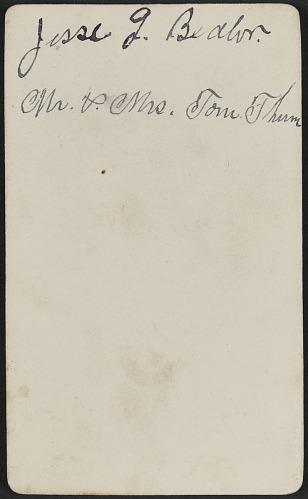 Image For Carte De Visite Portrait Of Tom Thumb And Lavinia Warren