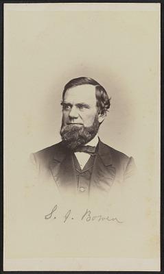 Carte-de-visite portrait of S. J. Bowen