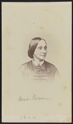 Image for Carte-de-visite portrait of Mrs. Bowen