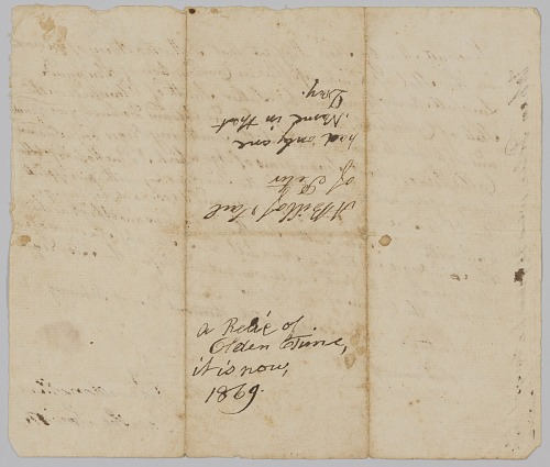 Image for Bill of sale for 7-year-old Peter from Martha Avery to Luther Smith