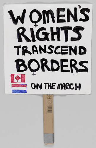"Image for Sign from Women's March on Washington with ""Women's Rights Transcend Borders"