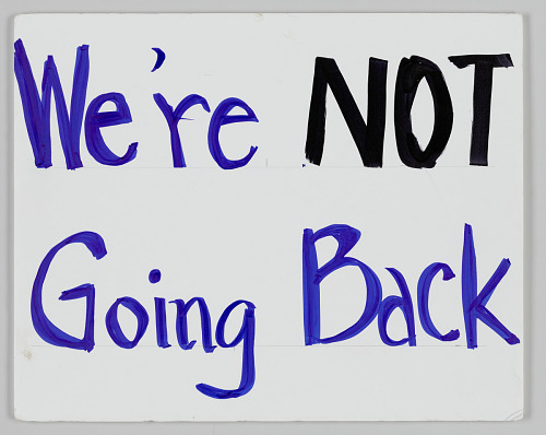 "Image for Poster from Women's March on Washington with ""We're NOT going back"""