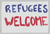 """Thumbnail for Poster from Women's March on Washington with """"Refugees welcome"""""""