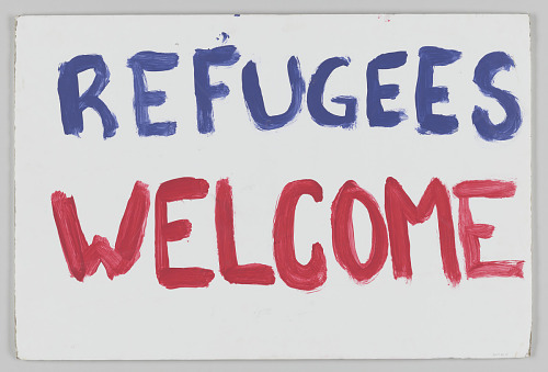 """Image for Poster from Women's March on Washington with """"Refugees welcome"""""""