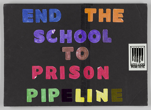 "Image for Poster from Women's March on Washington with ""End the School to Prison Pipeline"""
