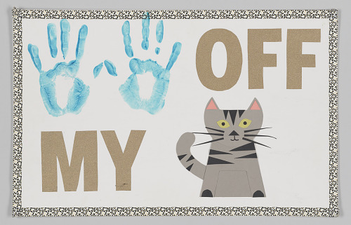 """Image for Poster from Women's March on Washington with """"hands off my pussy"""" graphic"""
