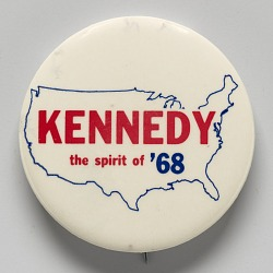 Pinback button for Robert F. Kennedy's 1968 presidential primary campaign
