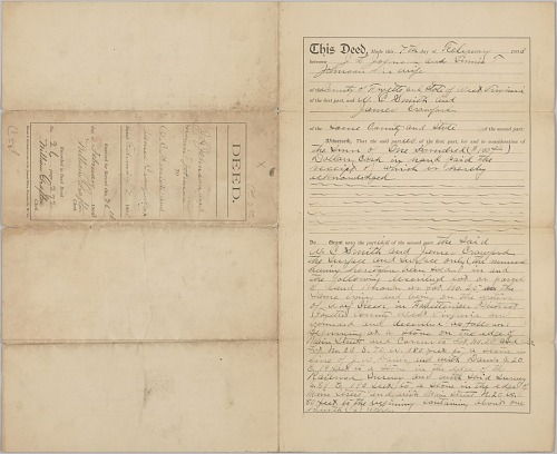 Image for Land deed for property in West Virginia owned by the Crawford family