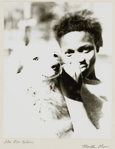 Image for Portrait of Ida Mae Johnson Nelson with a dog
