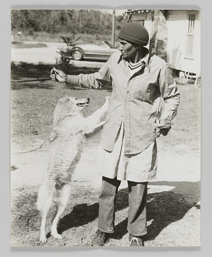 Image for Portrait of Irean Johnson with dog