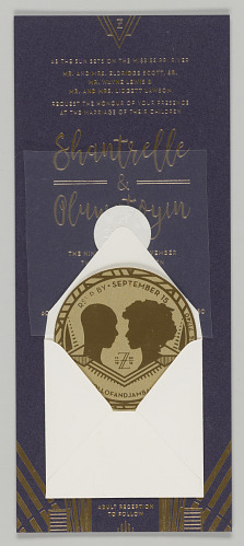 Image for Wedding invitation suite designed by Hadiya Williams
