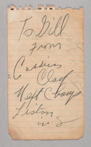 Image for Autograph written by Cassius Clay