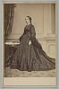 Thumbnail for Cabinet card of Mary Jane Hale Welles in a funeral dress by Elizabeth Keckley