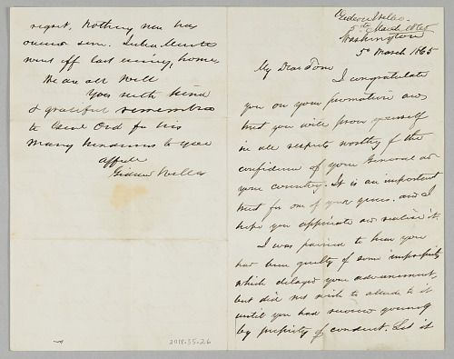 Image for Letter from Secretary Gideon Welles to his son Thomas