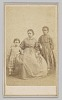 Thumbnail for Carte-de-visite of a young woman and two children