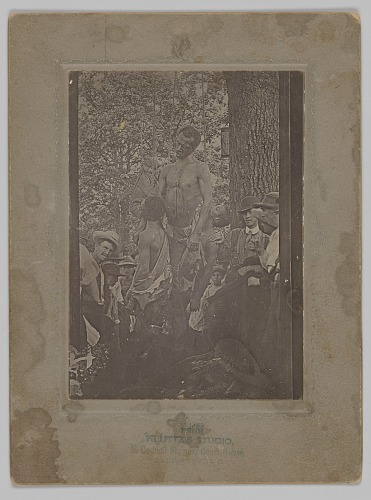 Image for Photograph of the bodies of Nease Gillespie, John Gillespie and Jack Dillingham