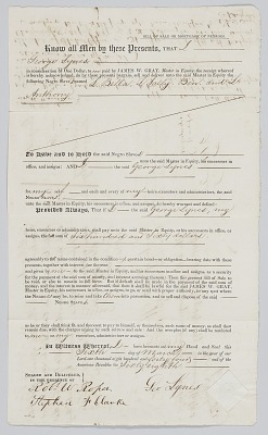 Bill of sale for four enslaved persons in Charleston, South Carolina