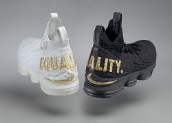 """Equality"" basketball shoes game-worn by LeBron James"