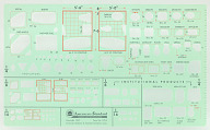 Architectural plumbing template by American Standard owned by John Chase