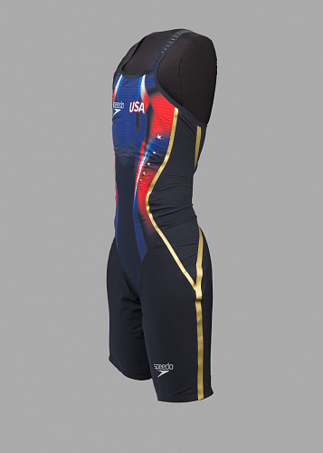Image for Olympic swim suit and bag used by Simone Manuel at the 2016 Olympics