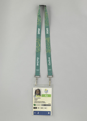 Olympic credentials used by Simone Manuel at the 2016 Olympics