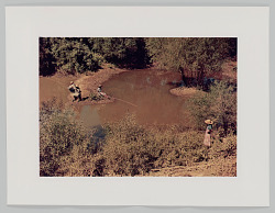 Negroes fishing in creek near cotton plantations outside Belzoni Miss. Delta, October 1939