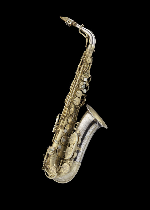 Image 1 for Alto saxophone owned and played by Charlie Parker