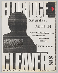 Flier for an African American Resource Machine benefit with Eldridge Cleaver