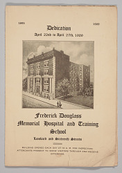 Program from The Frederick Douglass Memorial Hospital and Training School