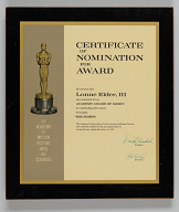Certificate of nomination from the Academy Awards issued to Lonne Elder III