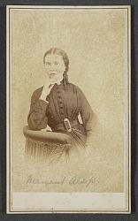 Carte-de-visite portrait of Margaret Alsop