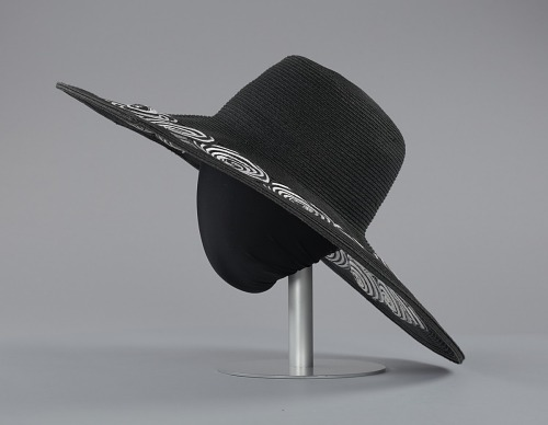 ... Image for Black and white sun hat from Mae s Millinery ... 1d16a1b8817