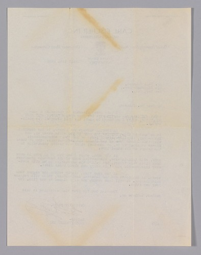 Image for Letter from Carl Fischer Inc. to Hall Johnson regarding Johnson's contract