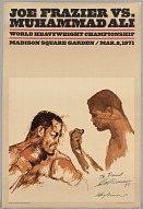 Poster Muhammad Ali and Joe Frazier promoting the Fight of the Century