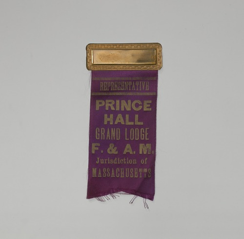 Image for Badge for a representative of the Prince Hall Grand Lodge of Massachusetts