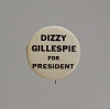 Thumbnail for Pinback button for Dizzy Gillespie