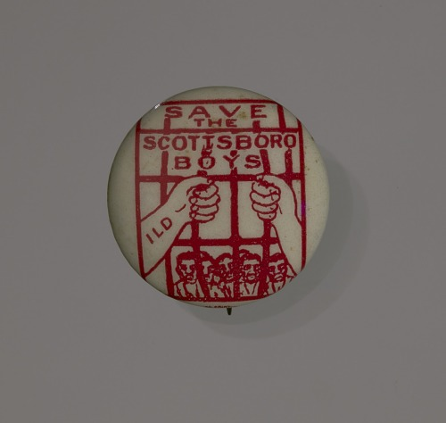 Image for Pin-back button supporting the Scottsboro Boys