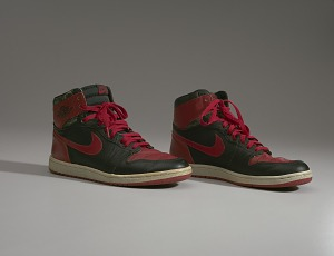 images for Pair of red and black Air Jordan I high top sneakers made by Nike-thumbnail 15