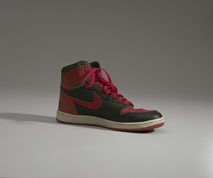 images for Pair of red and black Air Jordan I high top sneakers made by Nike-thumbnail 16