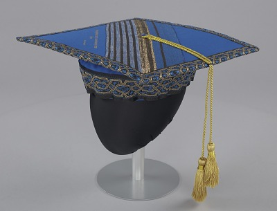 Academic cap worn by Dr. Johnnetta B. Cole at Bennett College