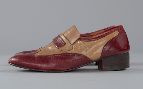 Image for Red and cream loafers designed by Pierre Cardin and worn by Fats Domino