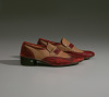 thumbnail for Image 9 - Red and cream loafers designed by Pierre Cardin and worn by Fats Domino