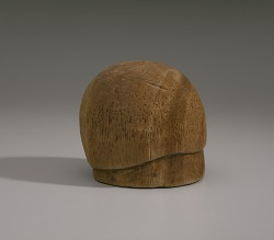 Wooden hat block from Mae's Millinery Shop