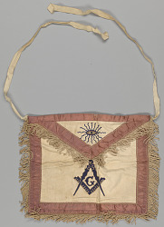 Leather Masonic apron owned by H.C. Anderson